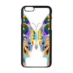 Abstract Animal Art Butterfly Apple Iphone 6/6s Black Enamel Case