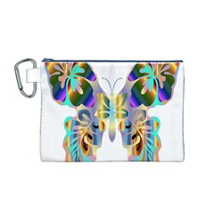 Abstract Animal Art Butterfly Canvas Cosmetic Bag (m)