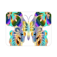 Abstract Animal Art Butterfly Double Sided Flano Blanket (mini)