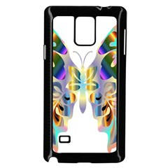 Abstract Animal Art Butterfly Samsung Galaxy Note 4 Case (black)