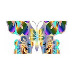 Abstract Animal Art Butterfly Satin Wrap