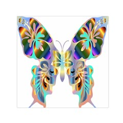 Abstract Animal Art Butterfly Small Satin Scarf (square)