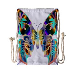 Abstract Animal Art Butterfly Drawstring Bag (small)