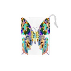 Abstract Animal Art Butterfly Drawstring Pouches (xs)