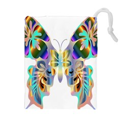 Abstract Animal Art Butterfly Drawstring Pouches (extra Large)