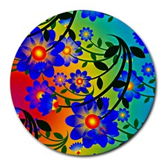 Abstract Background Backdrop Design Round Mousepads