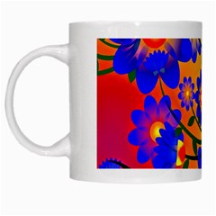 Abstract Background Backdrop Design White Mugs
