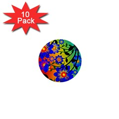 Abstract Background Backdrop Design 1  Mini Buttons (10 Pack)
