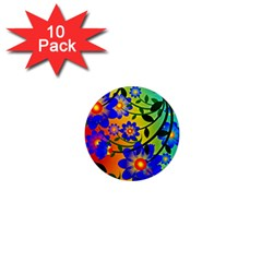 Abstract Background Backdrop Design 1  Mini Magnet (10 pack)