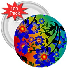 Abstract Background Backdrop Design 3  Buttons (100 Pack)