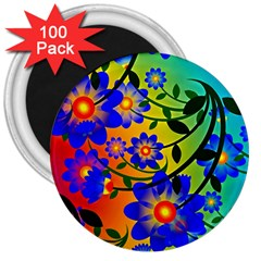 Abstract Background Backdrop Design 3  Magnets (100 Pack)