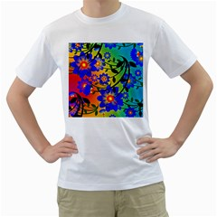 Abstract Background Backdrop Design Men s T Shirt (white) (two Sided)