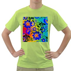 Abstract Background Backdrop Design Green T Shirt