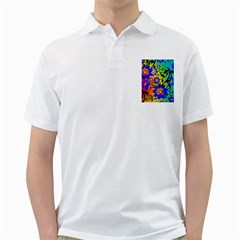 Abstract Background Backdrop Design Golf Shirts