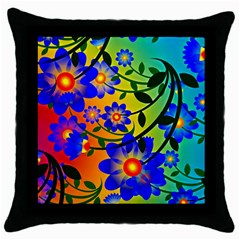 Abstract Background Backdrop Design Throw Pillow Case (black)