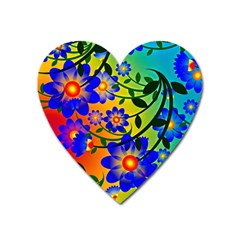 Abstract Background Backdrop Design Heart Magnet