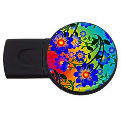 Abstract Background Backdrop Design Usb Flash Drive Round (2 Gb)