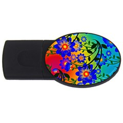 Abstract Background Backdrop Design Usb Flash Drive Oval (2 Gb)