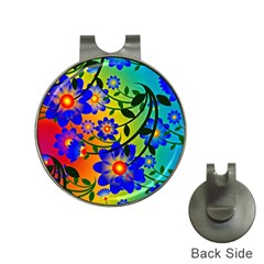 Abstract Background Backdrop Design Hat Clips With Golf Markers