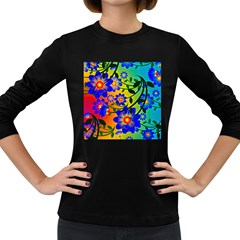 Abstract Background Backdrop Design Women s Long Sleeve Dark T Shirts