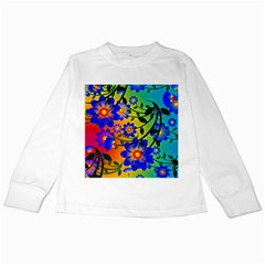 Abstract Background Backdrop Design Kids Long Sleeve T Shirts