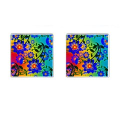 Abstract Background Backdrop Design Cufflinks (square)