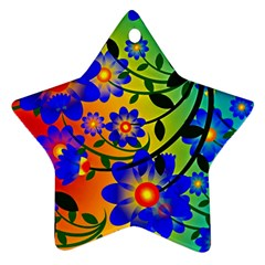 Abstract Background Backdrop Design Star Ornament (two Sides)