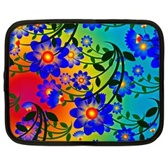 Abstract Background Backdrop Design Netbook Case (Large)