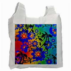 Abstract Background Backdrop Design Recycle Bag (one Side)