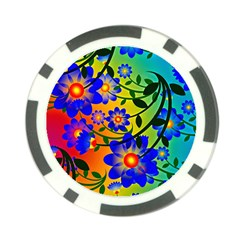 Abstract Background Backdrop Design Poker Chip Card Guard (10 Pack)