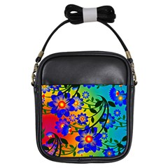 Abstract Background Backdrop Design Girls Sling Bags