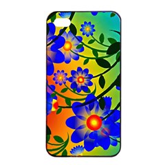 Abstract Background Backdrop Design Apple Iphone 4/4s Seamless Case (black)
