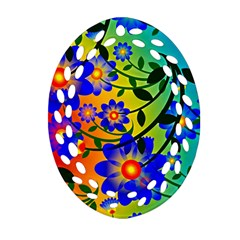 Abstract Background Backdrop Design Oval Filigree Ornament (two Sides)