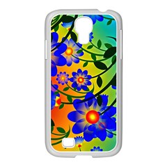 Abstract Background Backdrop Design Samsung Galaxy S4 I9500/ I9505 Case (white)