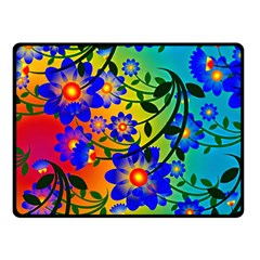 Abstract Background Backdrop Design Double Sided Fleece Blanket (small)