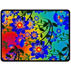 Abstract Background Backdrop Design Double Sided Fleece Blanket (large)