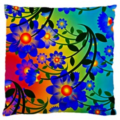 Abstract Background Backdrop Design Large Flano Cushion Case (one Side)