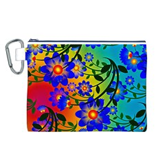 Abstract Background Backdrop Design Canvas Cosmetic Bag (l)