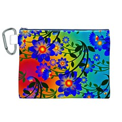 Abstract Background Backdrop Design Canvas Cosmetic Bag (xl)