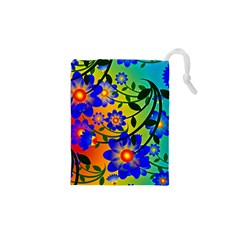 Abstract Background Backdrop Design Drawstring Pouches (xs)
