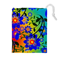 Abstract Background Backdrop Design Drawstring Pouches (extra Large)