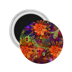 Abstract Flowers Floral Decorative 2 25  Magnets
