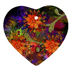 Abstract Flowers Floral Decorative Ornament (heart)