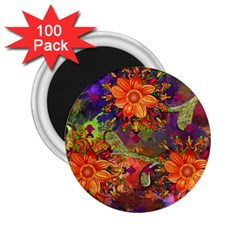Abstract Flowers Floral Decorative 2 25  Magnets (100 Pack)