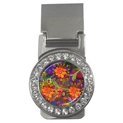 Abstract Flowers Floral Decorative Money Clips (cz)