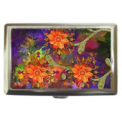 Abstract Flowers Floral Decorative Cigarette Money Cases