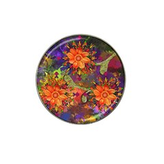 Abstract Flowers Floral Decorative Hat Clip Ball Marker (10 Pack)
