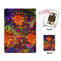 Abstract Flowers Floral Decorative Playing Card
