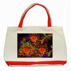 Abstract Flowers Floral Decorative Classic Tote Bag (red)
