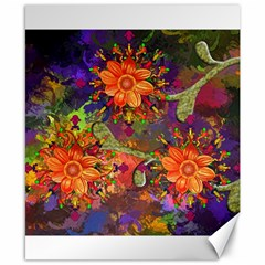 Abstract Flowers Floral Decorative Canvas 8  X 10